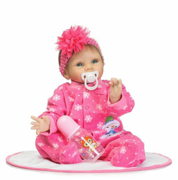 Wholesale diy princess girl gifts - Collection Cloth Body 22 Inch Reborn Baby Dolls Girl Realistic Newborn Babies Princess Dolls With Clothes Kids Birthday Gift