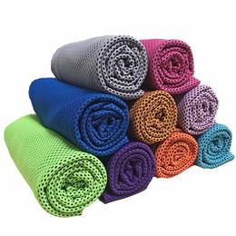Canada Serviette de refroidissement à double couche Sports Serviettes glacées Refroidissement instantané Serviette de yoga à séchage rapide Écharpe Été main serviettes de toilette livraison gratuite Offre