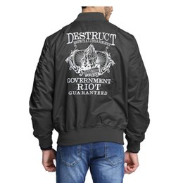 Wholesale Over Coat Jacket - New fashion print men tops bomber fly MA1 jackets coats over size military army style high quality outwear hip hop clothing