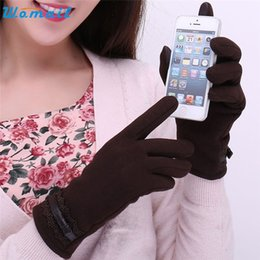 Wholesale Delicate Fingerless Gloves - Wholesale- WOMAIL delicate guantes calientes Fashion Womens fantastic Invierno Click Screen Winter Warm Gloves luvas quentes W30