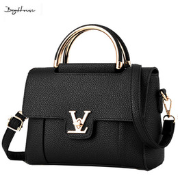 Wholesale Top Brand Designer Bags - Wholesale- 2016 designer female Elegant Shoulder bags famous brand women Top-handle bags sac a main 2016 luxury leather small handbags