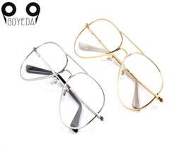 Wholesale Vintage Optic Glass - Wholesale- BOYEDA Vintage Brand Spectacle Frame Female Alloy Eyeglasses Women Men Round Retro Metal Eye Glasses Optics Prescription Eyewear
