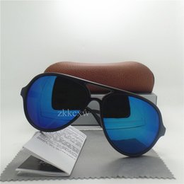 Wholesale Uv Mirror - High quality Brand Designer Fashion New Men Sunglasses UV Protection Sport Vintage Women Sun glasses Retro Eyewear With Brown boxNew Brand d