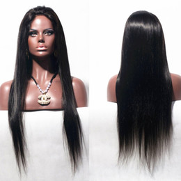 Wholesale Cheap Price Human Hair Wigs - Indian hair silky straight lace front wigs bleached knots natural color unprocessed human remy hair cheap price free shipping