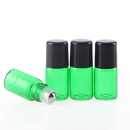 2019 rollo de vidrio desodorante botellas NUEVO producto Mix 4Colors 2ML Glass Roll On Perfume Bottle Botellas de aceite esencial transparentes Pequeños envases de desodorante con rodillo de metal rollo de vidrio desodorante botellas baratos