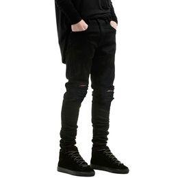 Petit jean en Ligne-Jeans déchirés en gros-nouveaux mode Petits jeans extensibles pour hommes et femmes