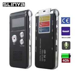 Wholesale 4gb Digital Voice Telephone Recorder - Wholesale- External Mic 650Hr 4GB USB Digital Audio Voice Recorder Dictaphone MP3 Telephone Record