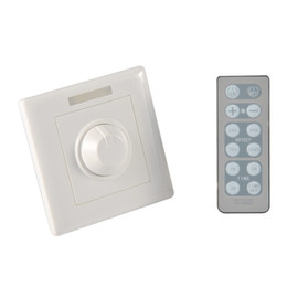 Wholesale Dimmer Ir - 300W Knob PWM Triac Wireless LED Dimmer Switch For Dimmable LED ceiling Downlights Panel light bulbs with 12key IR remote 110v 220v