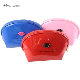 Wholesale Women Bags Glossy - Wholesale- HDWISS Glossy PVC Cosmetic Bag 8 Colors Women Travel Make up Toiletry Bag Fashion Necessaries Makeup Organizer Case CB010