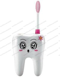 Wholesale Tooth Brush Stand - 2017 NEW Cartoon 4 Hole Toothbrush Holder Stand Brush Rack Tooth Brush Shelf Holder MYY