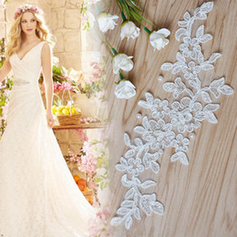 Wholesale Wedding Guipure - Fashion Wedding Dress Use Polyester Guipure African Cord Lace Trim 9cm Slim Flower Wholesale Lace Trim Embroidery