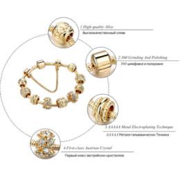 Wholesale European Bangles - CHICVIE Handmade European & American Charm Bracelets & Bangles Gold color Crystal Bracelets For Women Jewelry SBR160241