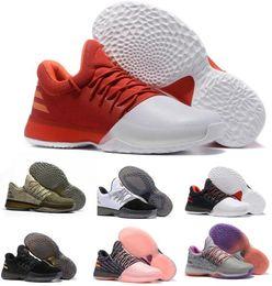 Wholesale James Shoes White Black - New Harden Vol 1 Basketball Shoes Men Man Hardening Sports Light James White Shoes Zapatillas Deportivas Homme Replica Sneakers Size 40-46