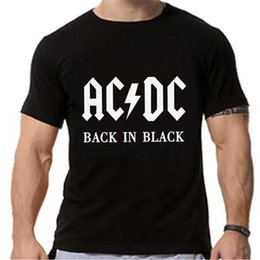 Wholesale Dc Tshirt - Wholesale- FancyQube New 2017 AC DC Band Rock T Shirt Mens Acdc Graphic T-shirts Print Casual Tshirt Plus Size O Neck Hip Hop Short Sleeve