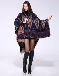 Wholesale Poncho Brown - Inverno Mulheres Poncho Capa de Cashmere com Geométrica Impressa Lenços Das Senhoras Z-3161