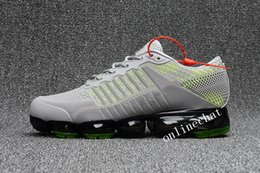 Wholesale Running Shoes Size 47 - 2018 Men's Vapormax Running Shoes Triple Black Gold Green White Red Vapor 2018 Trainer Kpu Sport Sneakers Size 40-47