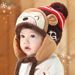 2046402bf75 monkey hat baby Coupons - New Winter Lovely Monkey Baby Hats Suit Colorful  Knitted Caps And