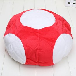 Wholesale Super Mario Plush Toys Toad - high quality Super Mario Bros Red Toad Plush Hat Mario Cap Plush Warm Anime Cosplay Plush Cap Hat 2styles
