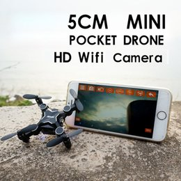 Wholesale Remote Control Plane Kit - Wholesale- Mini micro rc quadcopter pocket drone remote control small plane fidget spinner kit professional with com hd wifi camera gifts