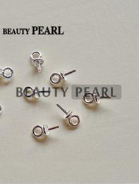 Canada En gros 925 Capsules de perle en argent sterling pour perle de bricolage Conclusions Composants perles connecteurs d'extrémité pour perles charme Offre