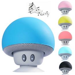 ipad handfree Promotion Vente en gros - sans fil Bluetooth Mini haut-parleur champignon imperméable silicium ventouse support mains libres lecteur de musique pour Iphone ipad téléphone intelligent