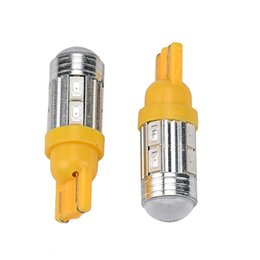 Wholesale 194 Amber Smd - 2 pc T10 158 194 168 W5W 5730 10 smd Lamp led Car Light Bulb super Amber Yellow