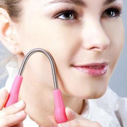 Wholesale Hair Threading Spring - New Women Facial Hair Remover Epilator Depilatory Spring Face Threading Tool Facial Hair Removal Makeup Tools