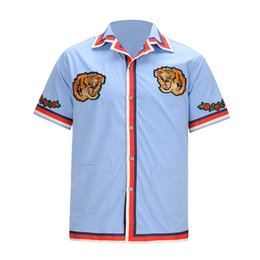 Wholesale Long Sleeved Polo Shirts - 2017 new men's brand polo t-shirt tiger head embroidery collar fashion t shirt long-sleeved t shirt men polo tiger