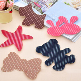 Wholesale Hair Fringe Styles - Wholesale- 1pc Bowknot Cartoon Fringe Sticker Multicolor Clip Star Bangs Hair Bang Pad Hair Styling Accessories
