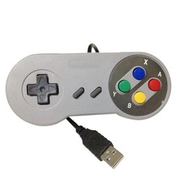 Wholesale Xbox Game Wholesale - Classic USB Controller PC Controllers Game pad Joystick Replacement for Super Nintendo SF for Tablet PC MAC