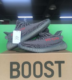 Wholesale Real Table - Beluga 2.0 350 Boost V2 Real Boost 350 V2 Kanye West Dark Green Running shoes Gray Zebra Bred Triple White Black 14 Color