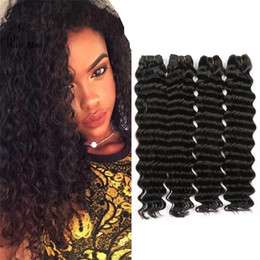 Wholesale Raw Unprocessed Virgin Hair Wholesale - 2017 hot selling peruvian deep wavy human hair 100% raw virgin unprocessed natural color 4pc peruvian deep wave hair with large stock