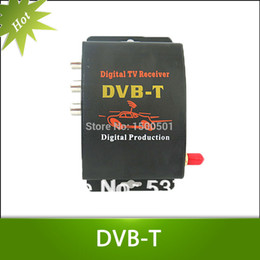 Wholesale Mpeg Receivers - Wholesale-Car TV Tuner DVB-T MPEG-4 Digital TV BOX Receiver Mini TV Box Free shipping