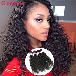 Melhor extensão de cabelo remy encaracolado on-line-2017 Melhores Itens de Venda Kinky Curly Brasileira Extensões de Cabelo Virgem Mink Feixes de Cabelo Brasileiro Mongol Kinky Curly Cabelo Humano Tece 6ps