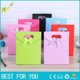 Wholesale Merry Christmas Baby - One set Small+2 Medium+Large Size Colorful Merry Christmas Paper Bag Gift Bags Birthday Sweet Treat Bag Wedding Baby Shower Gift