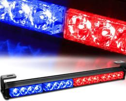"Wholesale 18 Led Blue Strobe Light - 18"" 16 LED 7 Modes Rooftop Traffic Advisor Emergency Warning Vehicle Strobe Light Bar Kit"