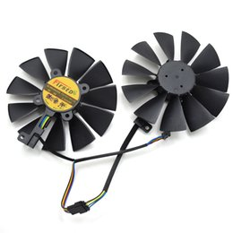 asus cooler Promotion Vente en gros- Nouveau 95MM Firstdo FD10015H12S 0.55A 4PIN 5Pin Cooler Fan pour ASUS GTX 970 980 TI R9 380 Strix Graphics Video Card Cooler Fan