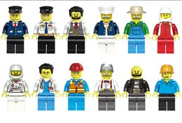 Wholesale Different Models - Minifigures 12 Pcs Different Cartoon profession cosmonautMen People Model Figures Building Blocks Educational Toy DIY Bricks Toys