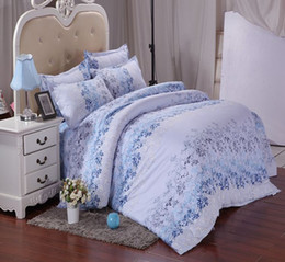 Wholesale blue gold comforter set king - home textile brick flannel comforter bedding-set sabanas 4 pcs of bed linen duvet cover bed sheet Twin Queen  king size A180 Free shipping