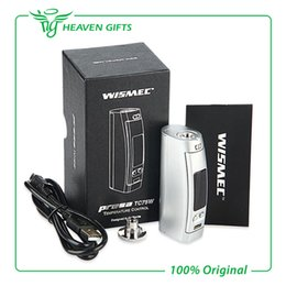 Wholesale Ego Vw - Wholesale- Authentic 75W WISMEC Presa TC Box Mod with 510-Ego Adapter Presa 75W Mod support TC VW  Bypass modes vs WISMEC Presa 100W Mod