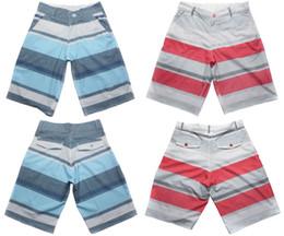 Wholesale Wholesale Men S Board Shorts - Wholesale-Awesome 4Way Stretch Beachshorts Mens Boardshorts Striped Bermudas Shorts Quick Dry Board Shorts 30 S 32 M 34 L 36 XL 38 XXL NWT