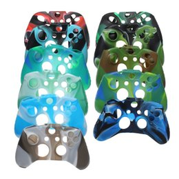 Wholesale one skin - For Xone Soft Silicone Flexible Camouflage Rubber Skin Case Cover For Xbox One Slim Controller Grip Cover
