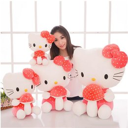 Wholesale Dolls Kitty - kawaii hello kitty plush toys for children stuffed soft anime cat doll 70cm best christmas birthday gifts