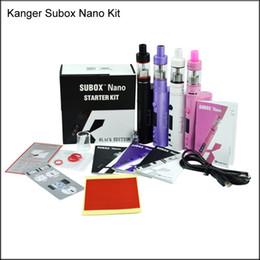 Wholesale E Cig Kanger - Good quality Kanger Subox Nano Starter Kit Subtank Nano Atomizer 50W Kbox nano box mods vs subox mini kit E cig