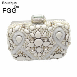 Pearl Covered Clutch Evening Bag Bulk Prices | Affordable Pearl ...