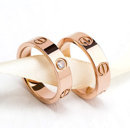 Wholesale Love Fashion Rings - Hot Sale Top Quality 316L Titanium steel nails Love rings lovers Band Rings Size for Women and Men Party Gift Free Shipping fashion jewelr