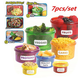Wholesale Lunch Box Containers Wholesale - Perfect Portions Food Storage Containers Easy Way To Lose Weight MINI Portion Lunch Boxes Control Containers Food Storage ZA2790