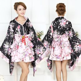 Wholesale Japanese Maids Pink - Halloween Costumes Cosplay Japanese yaezakura Maid sakura Japanese dress for Women anime chothing 6 pieces free shipping
