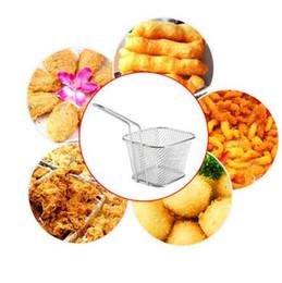 Wholesale Fry Baskets - Food Grade Mini Chips Fryer Basket Stainless Steel Fryer Serving Food Presentation Basket Kitchen French Fries Baskets CCA6429 60pcs