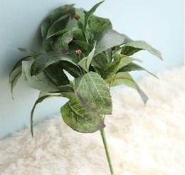 Wholesale Handmade Decoration Pieces - Aritificial flower Loquat leaf single piece for home decoration wedding handmade vivid liflike green Loquat leaf